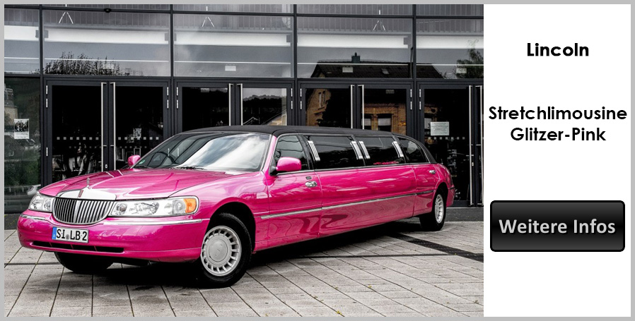 Pinke Lincoln Stretchlimousine
